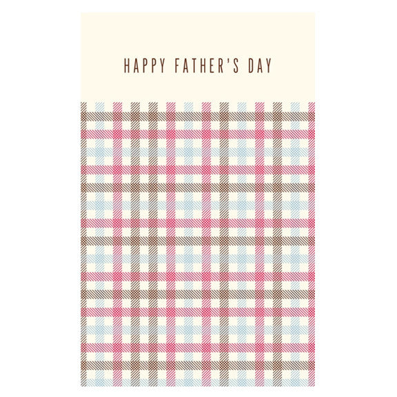 Dad Gingham Card by Snow & Graham
