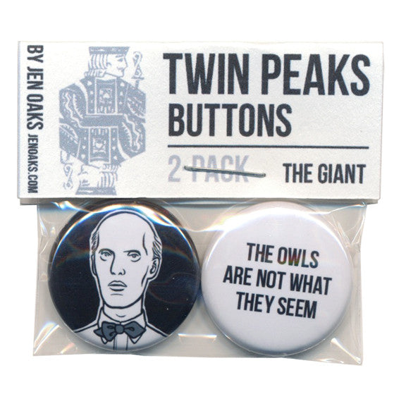 Twin Peaks Button Set by Jen Oaks