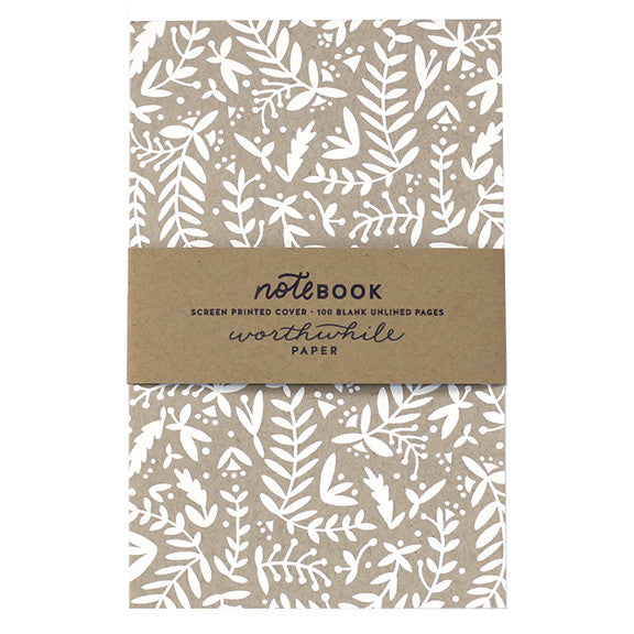 Nature Shapes Pattern Notebook by Worthwhile Paper