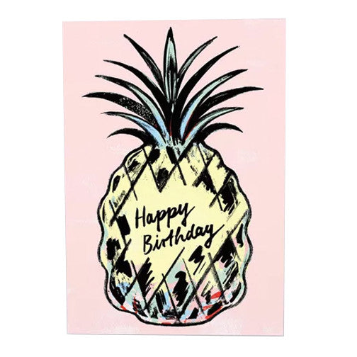 Cynthia Kittler Happy Birthday Pineapple Card by Wrap
