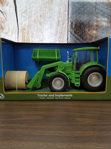 Tractor & Implements Toy Set