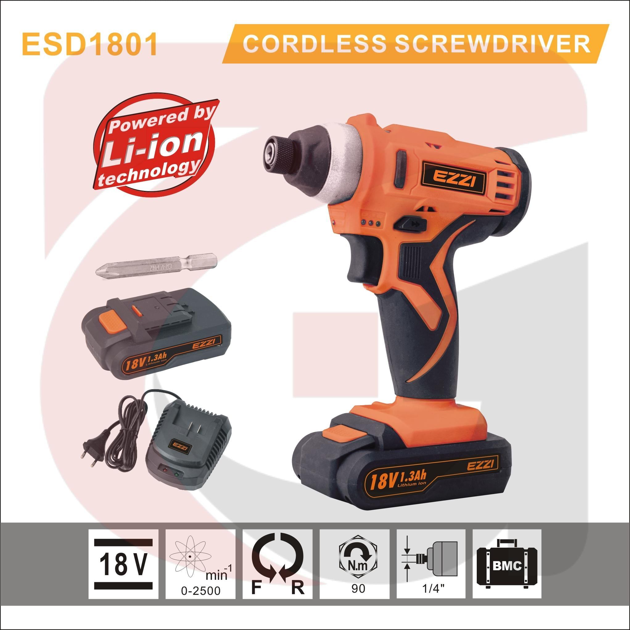 Ezzi Tools Cordless Screwdriver 18v 13 Mah Battery Additional Stanley Brushless Impact Driver