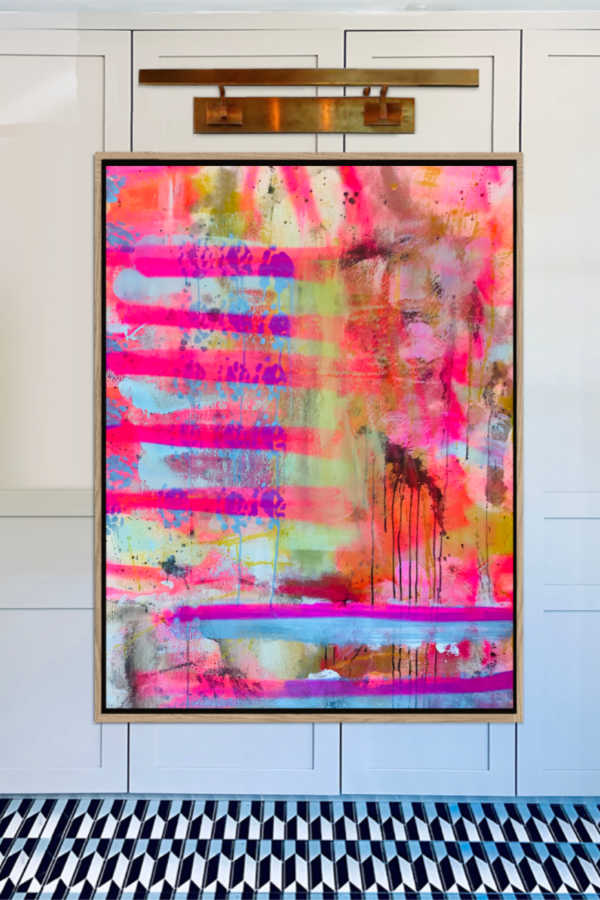 Angela Simeone abstract art painting artist Nashville interiors interior design designer