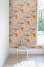 Flame Stitch Wallpaper Nashville artist Angela Simeone art interior  design interiors