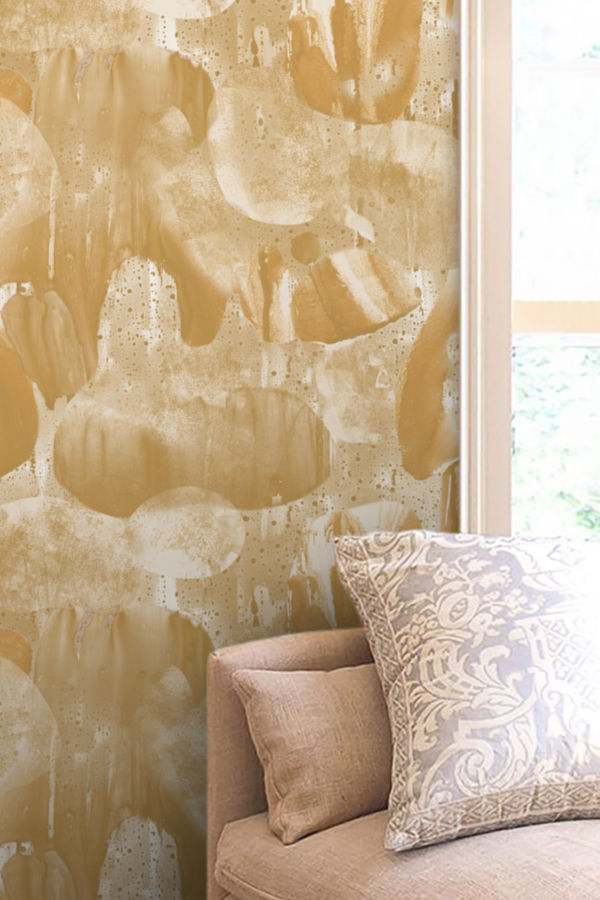 Liquid Marble Bronze wallpaper Nashville artist Angela Simeone art interiors interior design