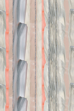 Peach Marble Stripe Wallpaper