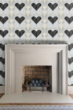 Heart Black wallpaper Nashville artist Angela Simeone art painting interiors interior design