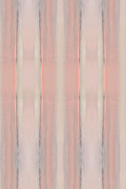 Palm Peach Stripe Wallpaper Nashville artist Angela Simeone art interiors interior design