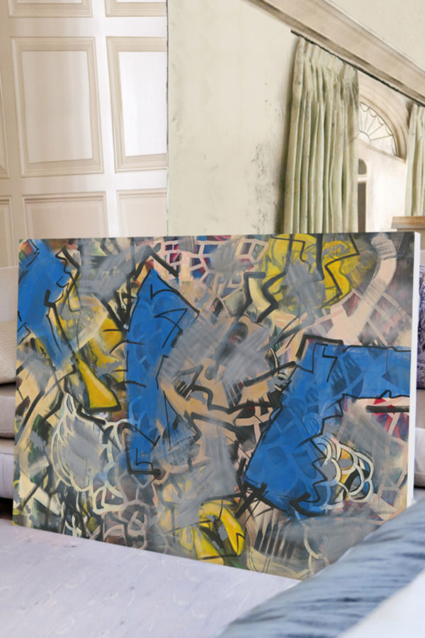 Abstract art angela simeone nashville artist interiors interior design