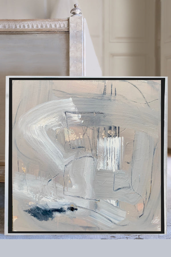 Abstract painting by Nashville artist Angela Simeone art interiors interior design