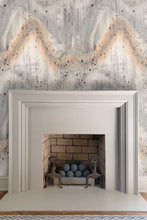 Patina Pattern Wallpaper Nashville artist Angela Simeone art interiors interior design