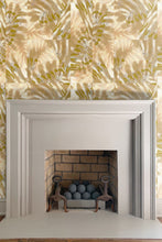 Palm Tiger wallpaper by Nashville artist Angela Simeone artful wallpaper for interior designers and homes of design