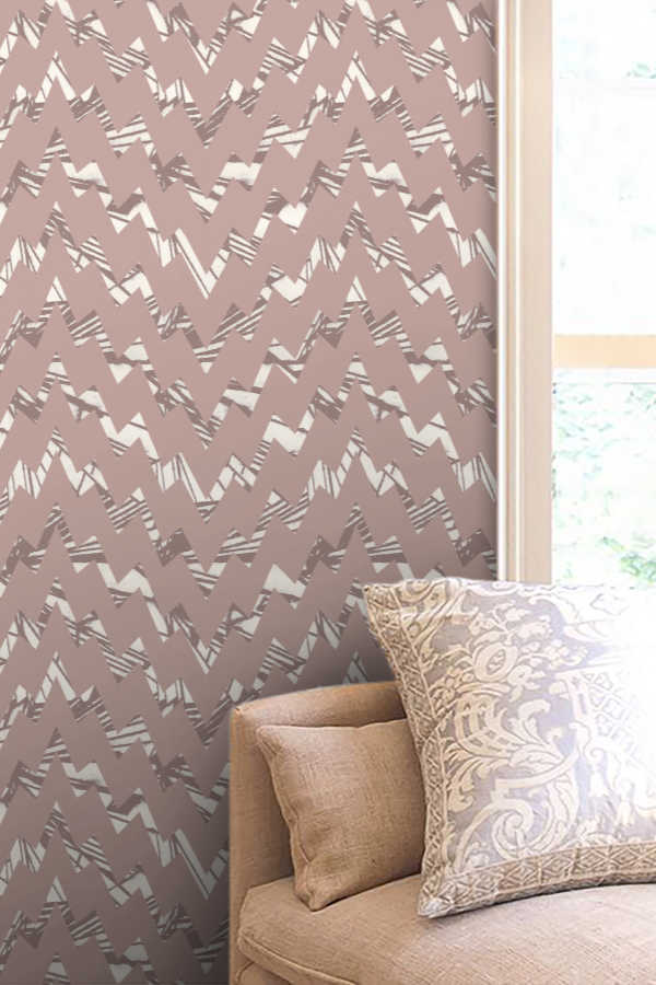 Flash Mauve Large wallpaper  wallpapers Nashville artist Angela Simeone art interiors interior design designer