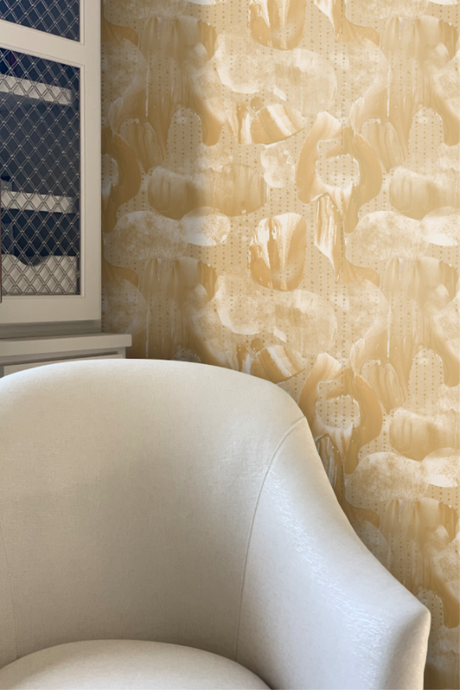 Liquid Marble Bronze wallpaper by Nashville artist