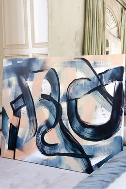 Original painting on canvas Nashville artist Angela Simeone abstract art