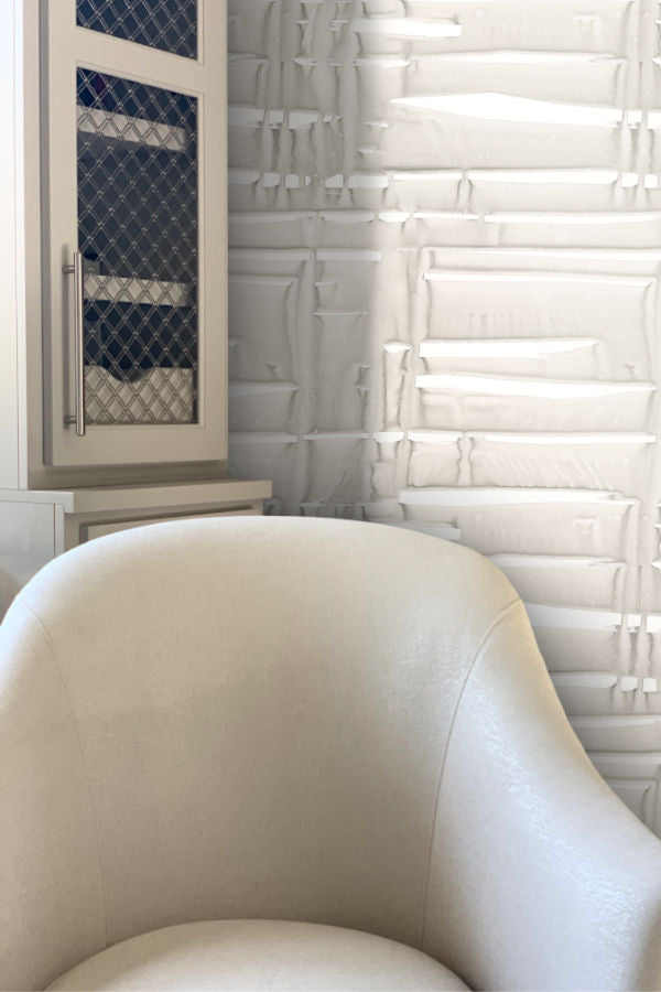 Grey Wash wallpaper by Nashville artist Angela Simeone artful wallpaper for interior designers and homes of design