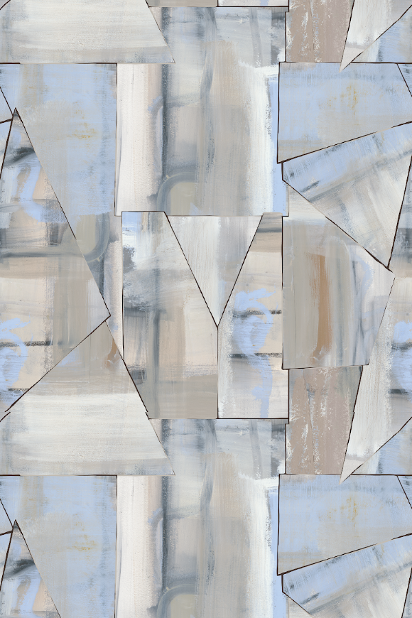 Confluence wallpaper by Nashville artist Angela Simeone art ful wallcovering for interior designers