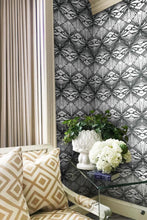 Buff wallpaper Nashville artist Angela Simeone art interiors design interior design