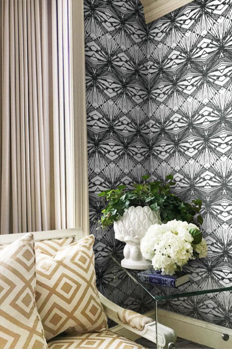 Harlequin Diamond Wallpaper by artist Angela Simeone