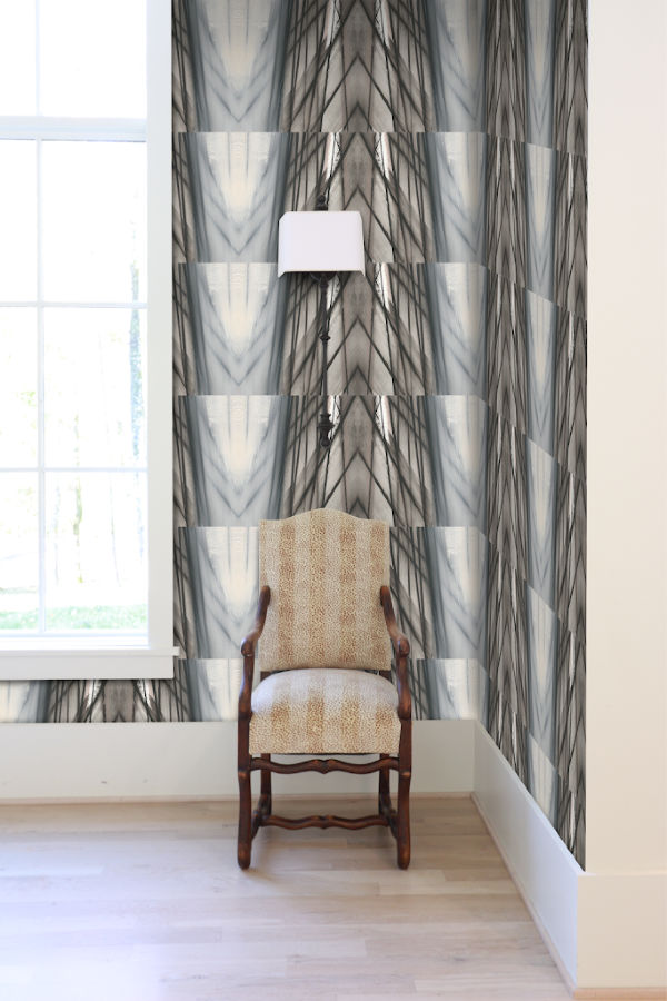 Ikat Transitional wallpaper Nashville artist Angela Simeone art interior interiors design designer