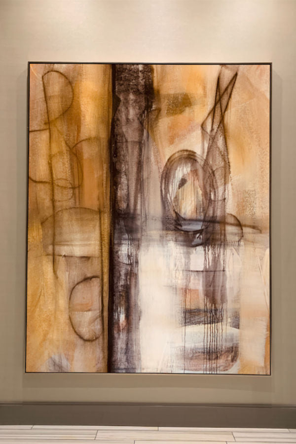 art abstract painting artist Nashville Angela Simeone interiors interior design
