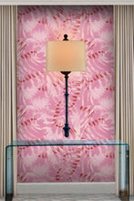 Palmish pink wallpaper by artist angela simeone