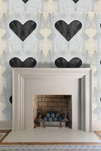 Queen of Hearts Large Wallpaper Nashville artist Angela Simeone art artist wallpapers interiors interior design