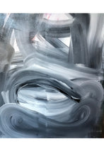 Black and White abstract original painting by artist Angela Simeone