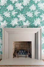 ebra Star Emerald green wallpaper by Nashville artist Angela Simeone artful wallpaper for interior designers and homes of design