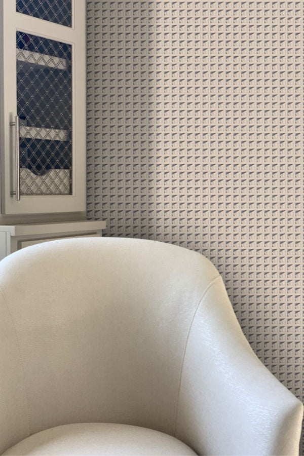 Houndstooth Wallpaper Nashville artist Angela Simeone art abstract wallpapers interiors interior design designer