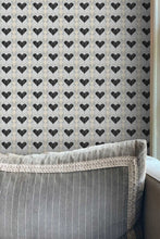 Hearts wallpaper Nashville artist Angela Simeone art wallpapers interior interiors design