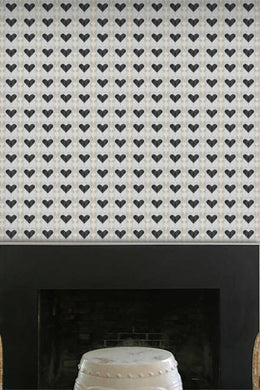 Hearts Wallpaper Nashville artist Angela Simeone art interiors interior design