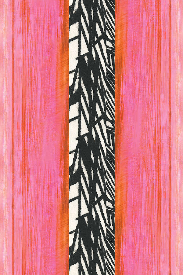 Iconic STripe Medium wallpaper Nashville artist ANgela Simeone art interiors interior design designer