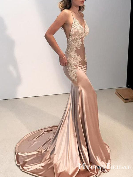 c0e97f98322 Sexy Backless V Neck Lace Mermaid Long Formal Evening Party Prom Dress