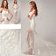 Chic Design One Shoulder Lace Top See Through Sexy Mermaid Lace Up Wedding Dresses, WDY0126