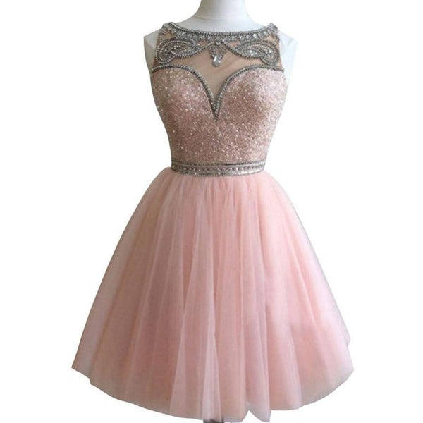 Dark pink Bateau gorgeous Stunning casual homecoming prom gown dresses, BDY0131