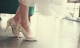 Fashion Fish Toe Ivory Lace High Heels Wedding Bridal Shoes, SY0103