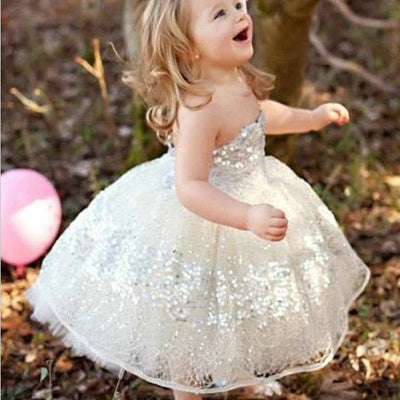 Sweetheart Light Champagne Lace Flower Girl Dress With Sequin Cheap Flower Girl Dresses Fgy0234 Sweetheart Light Champagne Lace Flower Girl Dress
