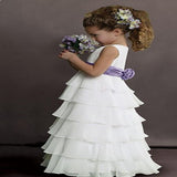 2019 Sweet Beginnings Tiered Chiffon Flower Girls Dress , Bridesmaid Princess Dress Ballgown,FGY0143
