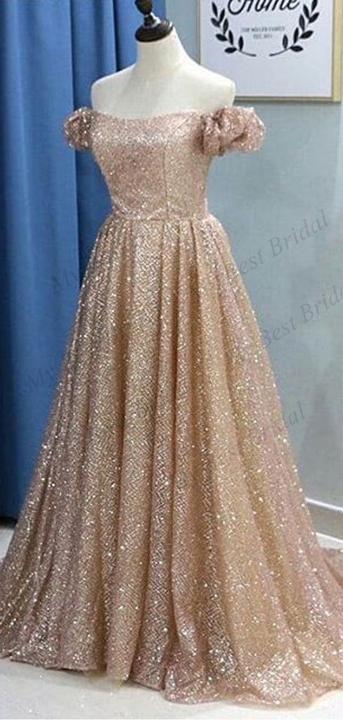 A-line Off-The Shoulder Sequin Prom Dresses,Cheap Prom Dresses,PDY0646