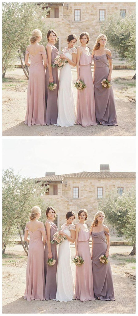 Chiffon Mimsatched Cheap Long Bridesmaid Dresses Online, WGY0259
