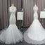 Gorgeous Elegant White Lace Mermaid Tulle Wedding Party Dresses, Bridal Gown, WDY0140