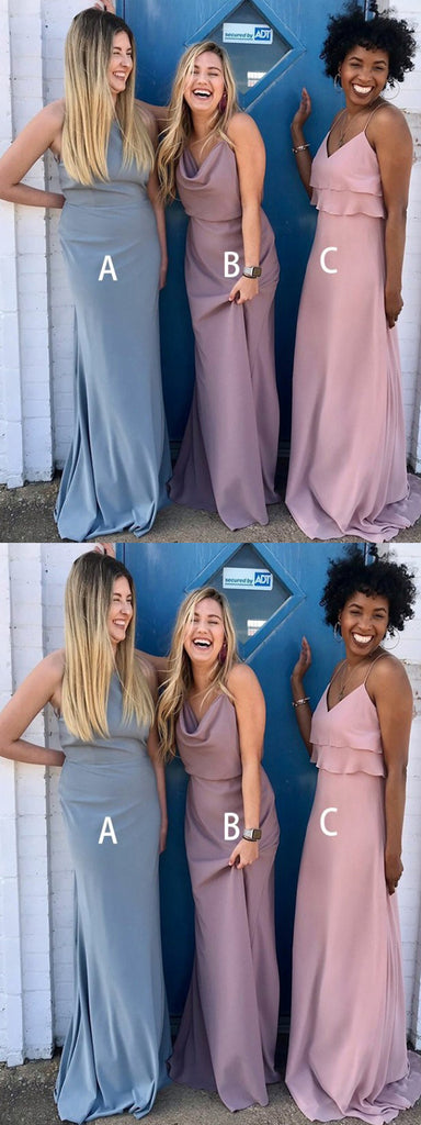 Gorgeous Different Style Jersey Long Bridesmaid Dresses,Wedding Party Dresses,WGY0186