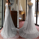 Light Blue Long Sexy Trumpet/Mermaid Off-the-shoulder Prom Dress/Evening Dress,PDY0305