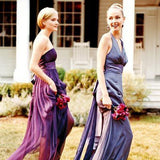 A-Line Strapless Purple Chiffon Long Bridesmaid Dresses With Belt,Wedding Party Dresses,WGY0187