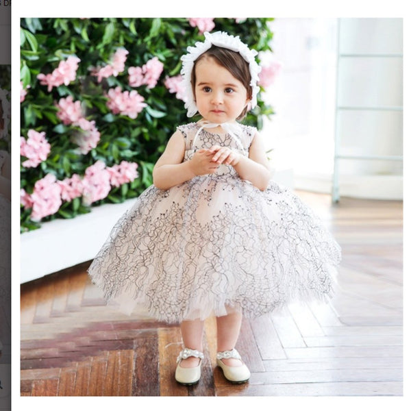 2019 Unique Lace Princess Puffy Flower Girl Dress Modern Couture High Quality,Bridesmaid Princess Dress Ballgown,FGY0148