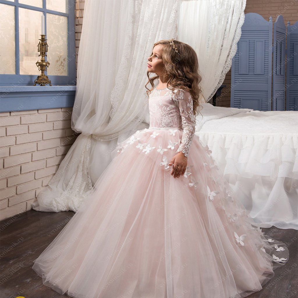 2019 Cute Pink Lace Tulle Cheap Latest Flower Girl Dresses,Litter Girl Dresses FGY0152