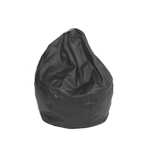 Black Leatherette Queen Bean Bag - nuatua-bean-bags