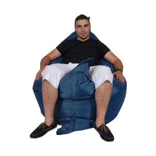 Blue Navy Urban Gorilla Bean Bag
