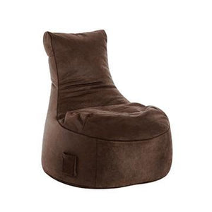 Brown Sitting Point Swing Cuba Bean Bag Chair - nuatua-bean-bags